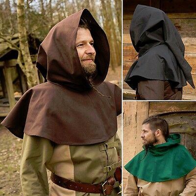 LARP Basic Style Hood - 3 Colours - Ideal For Many Costumes. Re-enactment