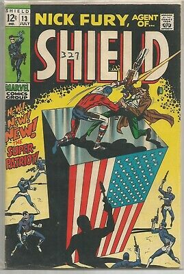 Nick Fury Agent Of SHIELD #13 Marvel (1969) Silver Age Comic Book FN+/VF-
