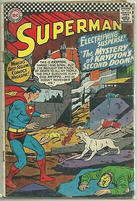 Superman #189 DC Silver Age (1966) Comic Book (Has Loose Center Pages) VG-/VG