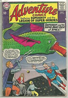 Adventure Comics #332 DC (1965) Silver Age Legion of Super-Heroes Comic VG+/FN-