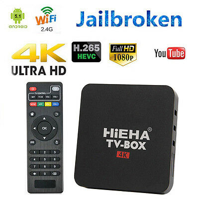 Hieha TV Box Media stream Player 4K quad Core 1G 8G Android 4.4 Sports Movies