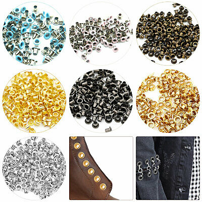 100pcs 3mm Brass Eyelets Grommets and Washers Clothing Banner Leather Art Craft