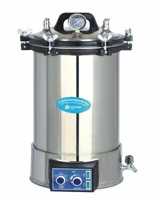 24L Medical Portable High Pressure Steam Sterilizer Stainless Steel 220V NEW CE
