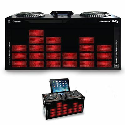 iDance XD3 Home Party Stereo Speaker LED Disco Lights, DJ Mixer Bluetooth 100W