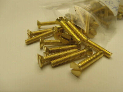 Flat Head Slotted Machine Screws Solid Brass #8-32 x 1 89 pieces