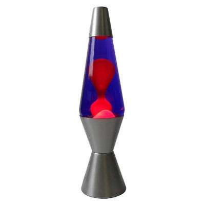Motion Lava Lamp 37cm Silver Base Purple/Red Party Night Light