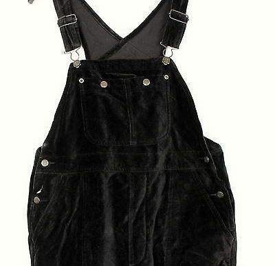 Vtg Ladies Black Harley Davidson Velour Dungarees Motor Cycles Womens S Rare!!