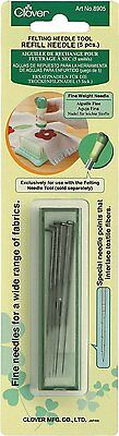 Hand Felting Needle Tool Refill Fine Weight needle 5 per Pack by Clover