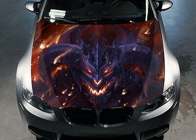 Dragon Glaurung Car Hood Wrap Color Vinyl Sticker Decal Fit Any Car