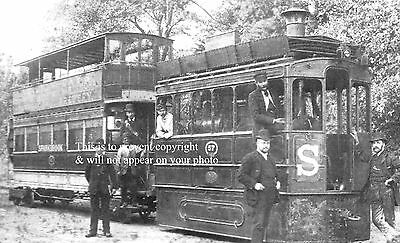 Photo Of Trams On The City Of Birmingham Tramway About 1895
