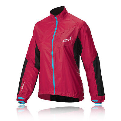 Inov-8 Race Elite 100 Womens Red Windproof Windshell Pro Running Trail Jacket