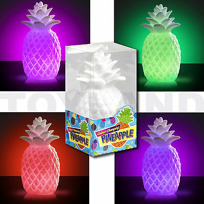 Led Colour Changing Pineapple Mood Light Table Lamp Christmas Stocking Filler
