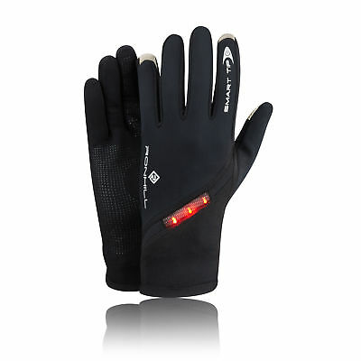 Ronhill Photon Mens Womens Black Regulite Running Training Sports Warm Gloves