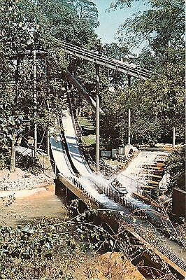Coal Cracker Log Flume Hershey Park Chocolate Amusement Park Pa Postcard
