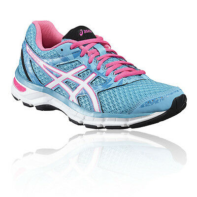 Asics Gel-Excite 4 Womens Pink Blue Cushioned Running Road Shoes Trainers