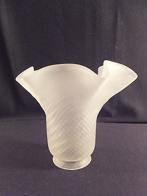 "Vintage Frosted Glass Lamp Light Shade Replacement 2.25"" Fitter"