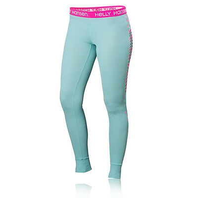 Helly Hansen Active Flow Womens Pink Blue Running Outdoors Tights Bottoms Pants