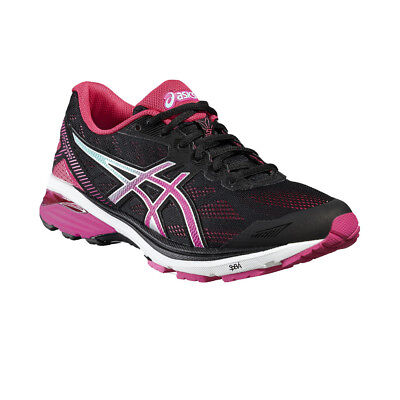 Asics GT-1000 5 Womens Pink Black Support Running Sport Shoes Trainers Pumps