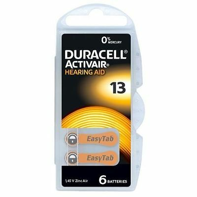 Duracell MERCURY FREE Hearing Aid Batteries Size 13 x 60