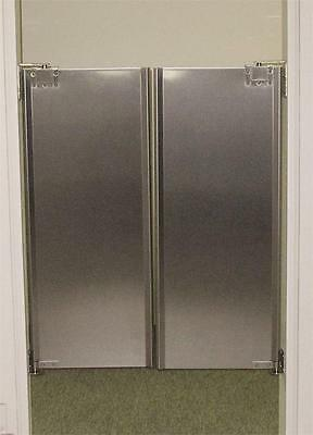 "Cafe Door 36""x42"" Stainless Steel Double Swing Restaurant Kitchen Traffic Doors."