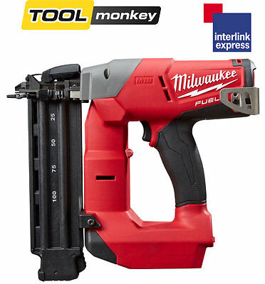 Milwaukee M18CN18GS-0X Angled 18G 18v Nailer Cordless Li-ion Brad Gun In Case