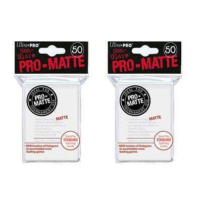 Ultra Pro Matte Card Sleeves 2x(50) - Deck Protector Standard Size - White