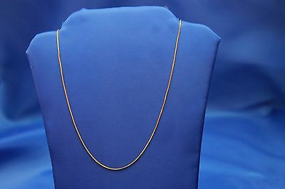 "14K YELLOW GOLD ITALIAN BOX CHAIN NECKLACE 16"" - 24""  inches"