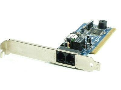 Smart link Ultron Chipset SL2800 PCI 2x RJ11 Data Fax Modem Carte Ligne