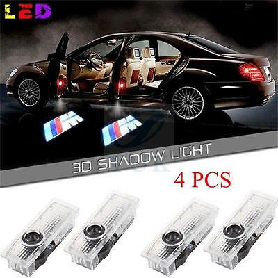 4Pcs M Logo For BMW LED Courtesy Laser Projector Ghost Welcome Shadow Door Light