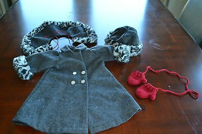 American Girl Nellie's Winter Coat, Hat, and Red Mittens!