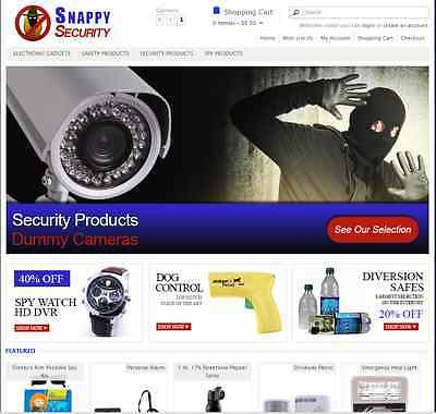 Security products turnkey drop ship website - Established Domain & Website