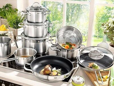 WMF Silit Achat 14-pc Cookware Set, 18/10 Stainless Steel Cookware Set