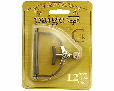 Paige Clik Capo 12 String Acoustic Guitar  Black PC-12 MADE IN USA New/Sealed
