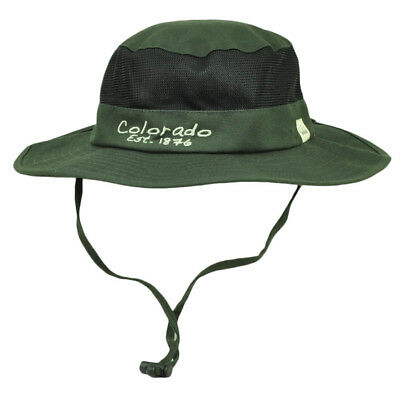 e321cb4091aeea Colorado State Gray Booney Sun bucket Hat Chin Strap Mesh Band Outdoors USA