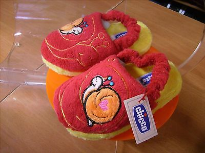 Scarpe shoes pantofole inverno bambino CHICCO NR. 24 25 rosso natale nuove!
