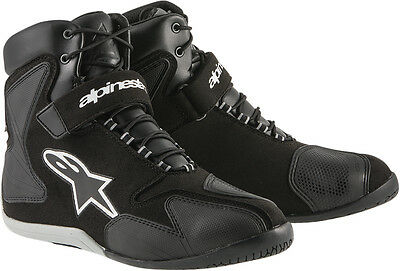 ALPINESTARS FASTBACK Waterproof Road/Street Riding Shoes (Blk/White) Choose Size