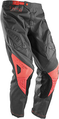 THOR MX Motocross 2016 Womens PHASE Pants (CLUTCH Charcoal/Coral) Choose Size