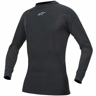 ALPINESTARS Tech Base Long Sleeve Motorcycle Under Suit Top (Black) Choose Size