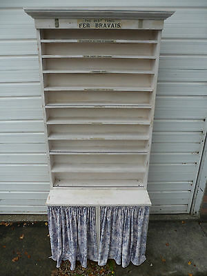 Late 20th century spice/collectables rack/shelving,curtain cupboard,ephemera