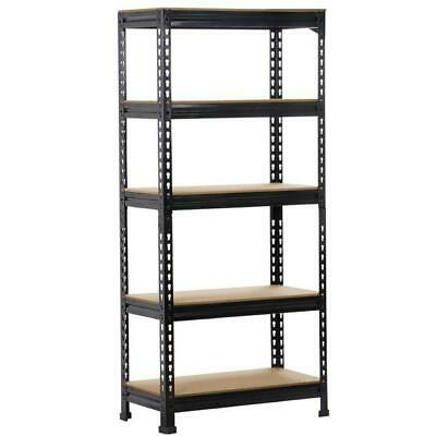 Heavy Duty Steel 5 Level Garage Shelf Metal Storage Adjustable Shelves Unit New