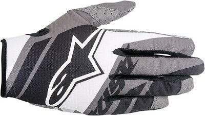 ALPINESTARS MX Motocross Offroad SUPERMATIC Gloves (Black/White/Gray) L (Large)