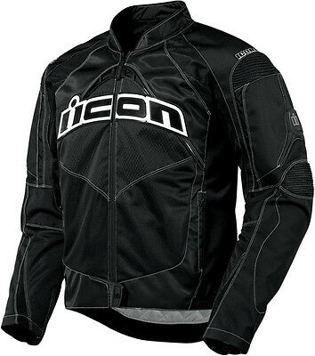 ICON Contra Textile Motorcycle Jacket (Black) M (Medium)
