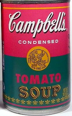 NEW - Salmon & Teal Andy Warhol 50th Anniversary 2012 Target Campbell's Soup Can