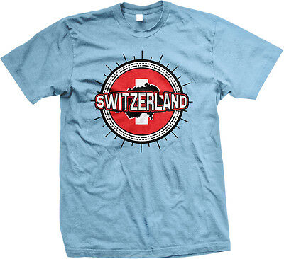 Switzerland Flag Ball Born From Swiss Country Outline CHE CH Team Men/'s Thermal