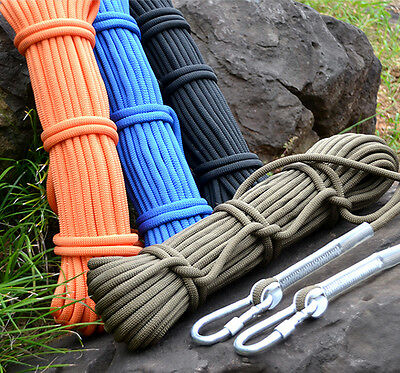 9.5mm 10M Safety Rescue Rock Tree Climbing Rappelling Sling Rope Auxiliary Cord