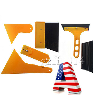 New 7pcs Car Auto Window Scraper Wrap Tint Vinyl Film Squeegee Cleaning Tool Kit