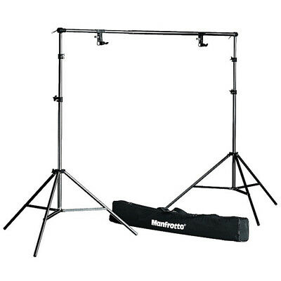 New Manfrotto 1314B Background Support System Kit inc. Stand Pole, Clamps, Bag