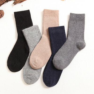 5 pairs Mongolia 100% Pure Cashmere Wool Men Man Socks- Black Dark Gray Blue