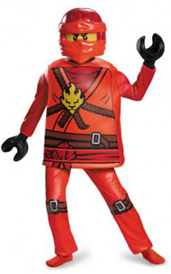 Licensed Deluxe Kai Ninjago Child Boys Lego Dress Up Halloween Book Week Costume