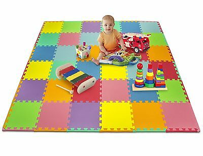 Matney Foam Mat Puzzle Piece Play Mat Set - Safe for Kids to Play and Learn -...
